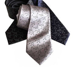 Serotonin & Dopamine Necktie, Happiness Molecules Tie