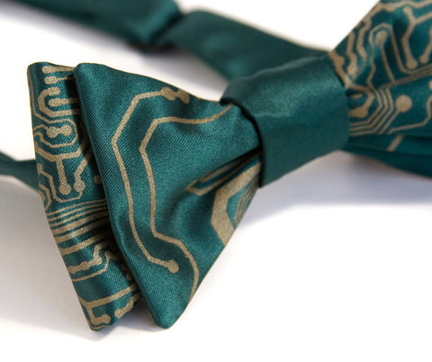 Circuit Board Bow Tie, Short Circuit printed bowtie