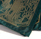silkscreened Circuit Board pocket square, by cyberoptix