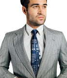 Space shuttle necktie, french blue