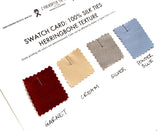 order swatches for custom silk herringbone neckties
