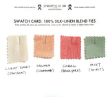 swatches for custom linen neckties