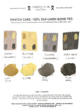 linen necktie swatches for custom matching