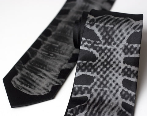 Backbone Silk Necktie, Skeletie Spine Tie