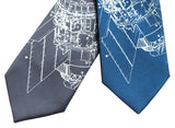 NASA Space Station neckties. Skylab print, by Cyberoptix.