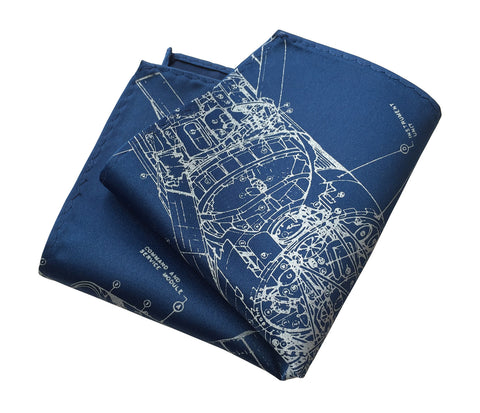 Skylab Pocket Square, Space Station Print