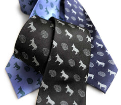 Smart Ass Necktie, Brain & Donkey Print Tie