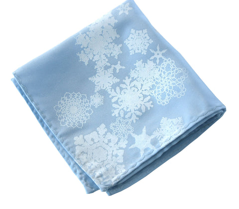 Snow Flake Pocket Square
