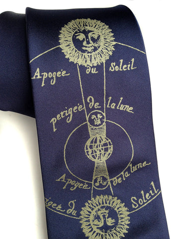 Solar and Lunar Eclipse Silk Necktie