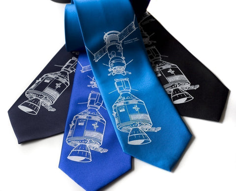 Apollo Soyuz Silk Necktie