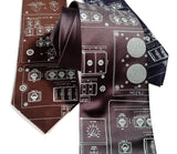Space Shuttle Diagram Necktie: charcoal grey tie.