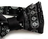Space Shuttle bow tie, black.