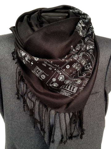 Space Shuttle Controls Pashmina Scarf.