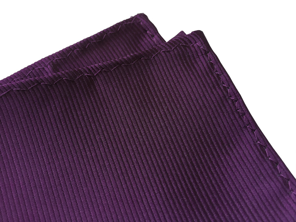 2c5c16c8dfd86 eggplant purple pocket square, by Cyberoptix. Wine colored fine woven  stripe texture