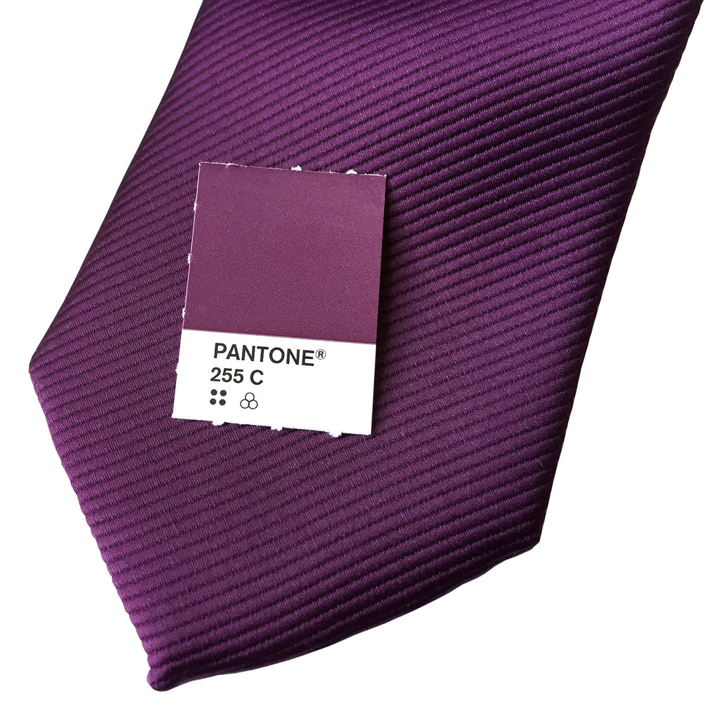 890824ed50aea Spiced Wine Pocket Square. Solid Purple Fine-Stripe, No Print
