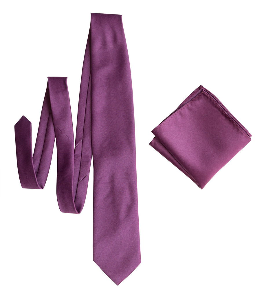 895572c8098c7 Spiced Wine Pocket Square. Medium Purple Solid Color Satin Finish, No Print