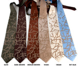 Antler print wedding neckties