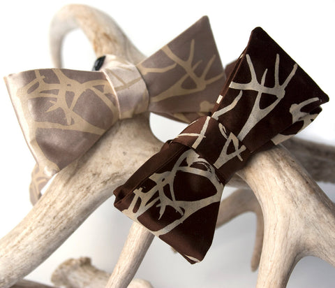 Antler Bow Tie. Stag Party Bowtie
