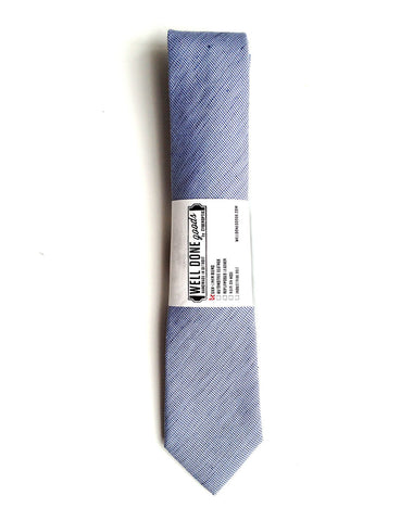 Nautical Blue Linen Necktie. Solid Color Tie, St. Clair