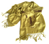 citrine cow skull scarf