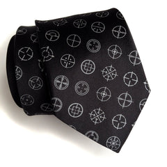Straight Shooter Necktie. Microfiber rifle sight tie.