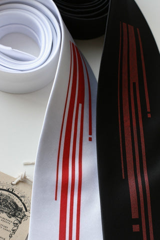 Strangle Necktie. Digital blood drips microfiber tie.