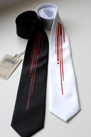 Strangle Silk Necktie. Digital blood drips tie.