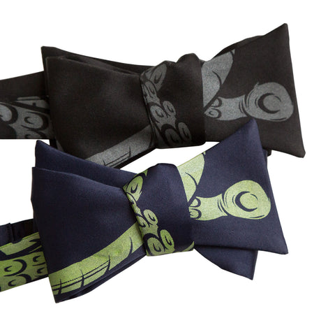 Octopus Tentacles Bow Tie, Sucker Cthulhu Tie