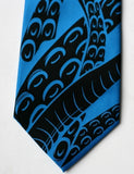 Electric Blue octopus tentacle necktie.