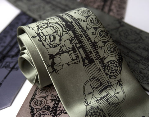 Tanked Silk Necktie