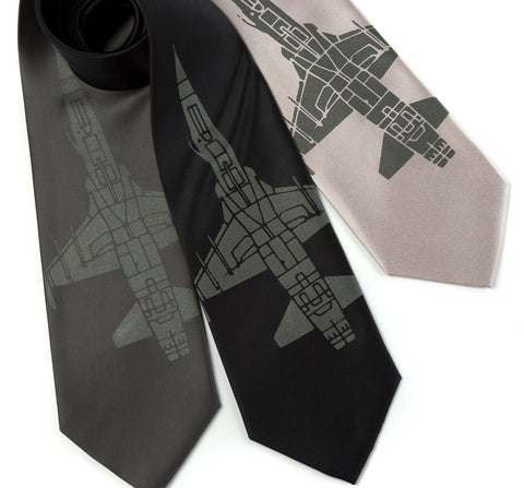 Tie Fighter Silk Necktie