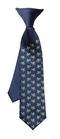 Tiny Octopus Print Kid's Tie, Boy's Clip-on Octopi Pattern Necktie