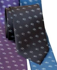Tiny Racing Bike Necktie, Bicycle Pattern Tie