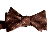 Tiny Scissors Print Dark Brown Bow Tie, Scissors Pattern Tie, by Cyberoptix