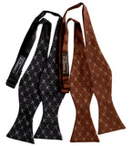 Tiny Scissors Pattern Self Tie Bow Ties, Arts and Crafts Tie, by Cyberoptix