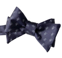 Racing Bike Bow Tie, Tiny Bicycle Print Tie