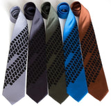 Black on silver, charcoal, olive, electric blue, cinnamon.