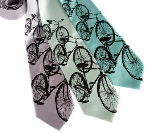 Bicycle Necktie. Triple Cruiser Bike Tie