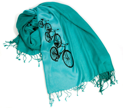Bicycle Scarf. Triple Cruiser pashmina.