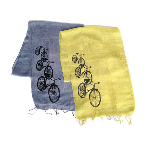Bicycle Silk Scarf. Triple Cruiser.