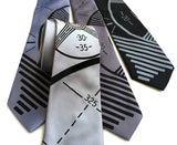 TV Test Pattern Silk Necktie