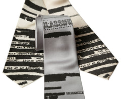 UFO Redacted Necktie, Unclassified NSA Memo Tie