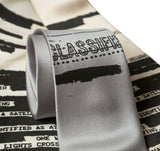 Unidentified Flying Object Necktie, Document Print Tie, by Cyberoptix