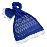 Blue Ugly Hanukkah Sweater Print Scarf, by Cyberoptix