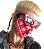 Ugly Christmas Sweater Mask, Adjustable holiday facemask