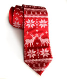 Red Ugly Christmas Sweater Necktie, by Cyberoptix