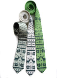 Nordic Print Holiday Sweater ties, by Cyberoptix