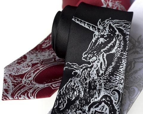 Unicorn Silk Necktie