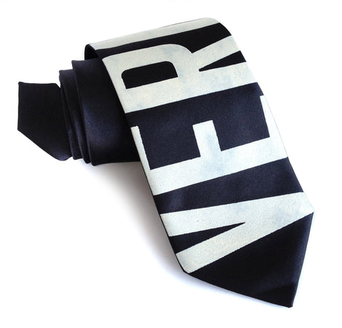 Bus Scroll Necktie: Vernor. Silk.