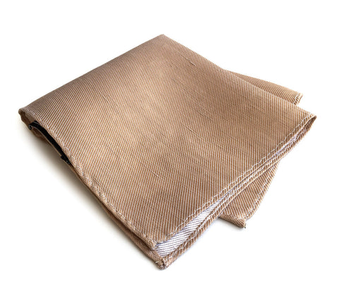 Pale Copper Linen Pocket Square. Solid Color, Vernors